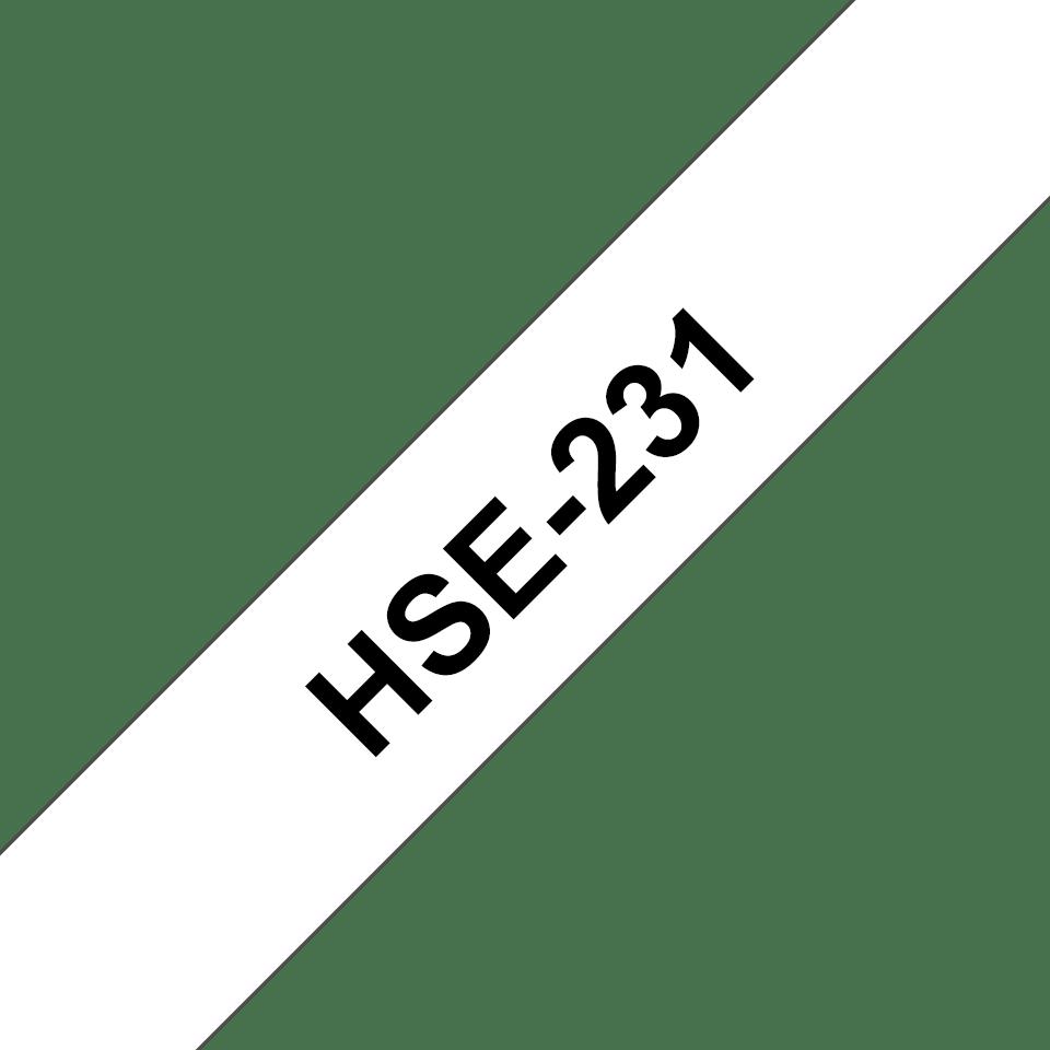 Original Brother HSe231 krympeflex tape – sort på hvid, 11,7 mm bred 3