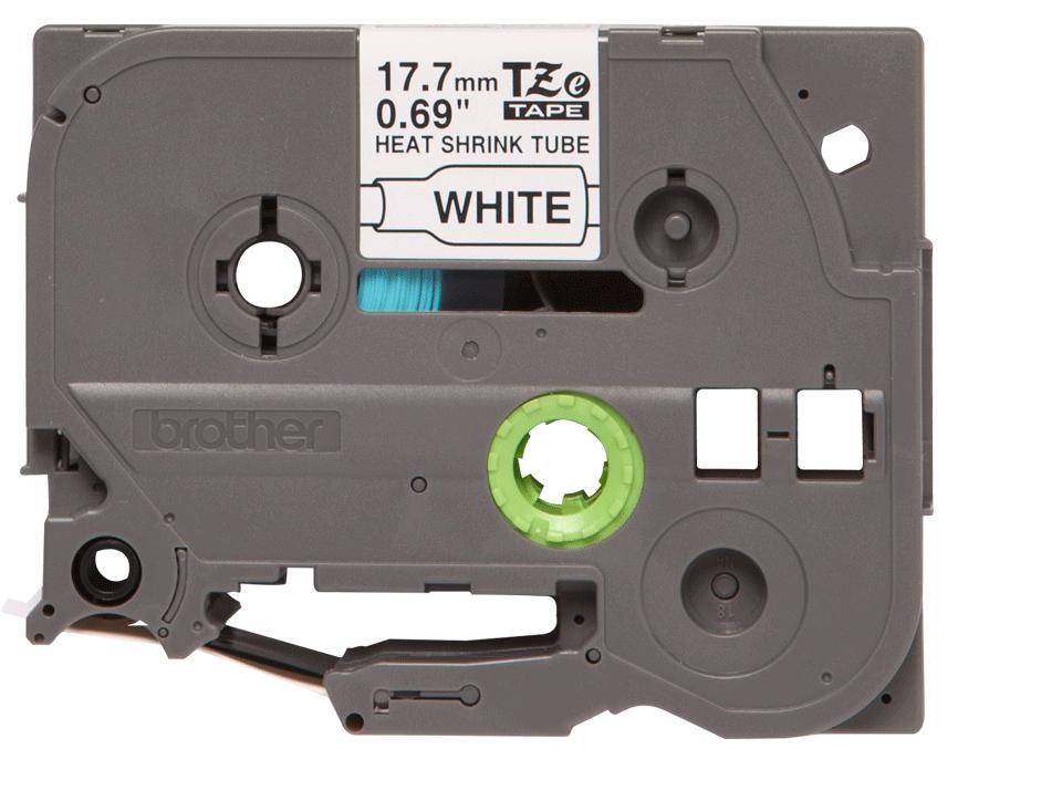 Original Brother HSe-241 krympeflextape – sort på hvid, 17,7 mm bred