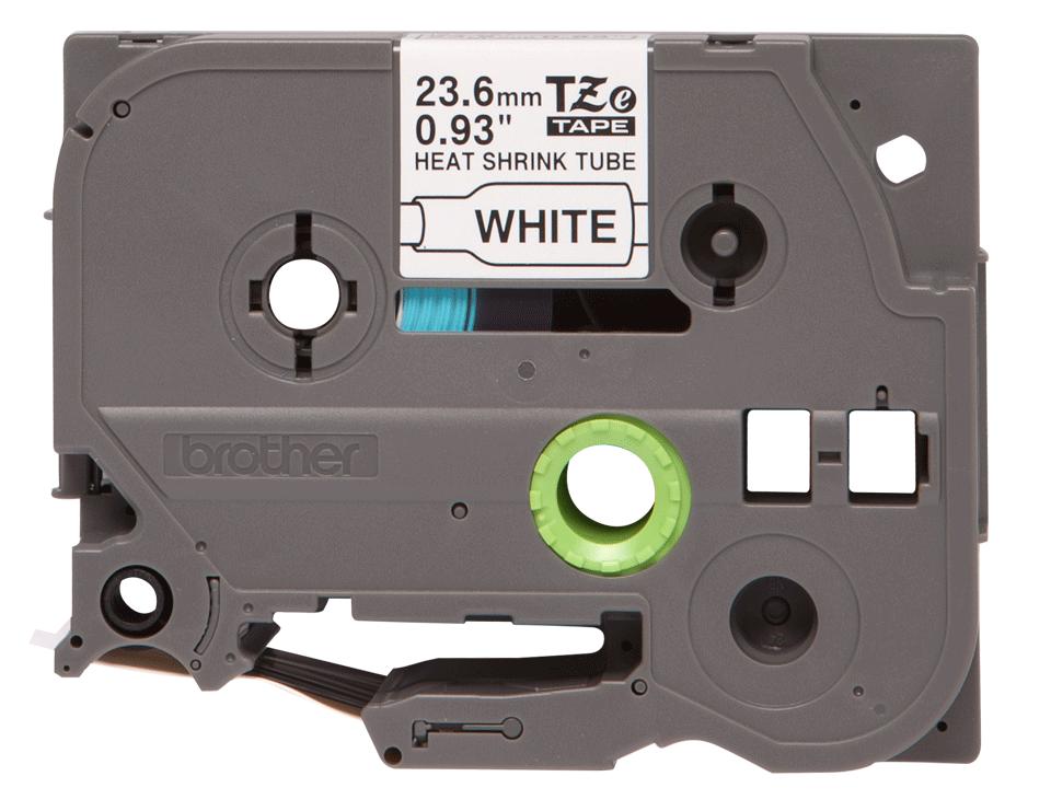 Original Brother HSe-251 krympeflex tape – sort på hvid, 23,6 mm bred