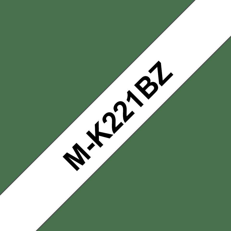 Original Brother MK221BZ tape – sort på hvid, 9 mm bred