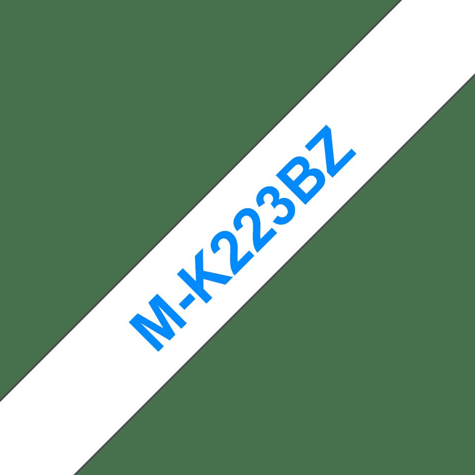 Original Brother MK223BZ tape – blå på hvid, 9 mm bred