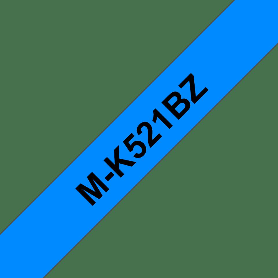 Original Brother MK521BZ tape – sort på blå, 9 mm bred