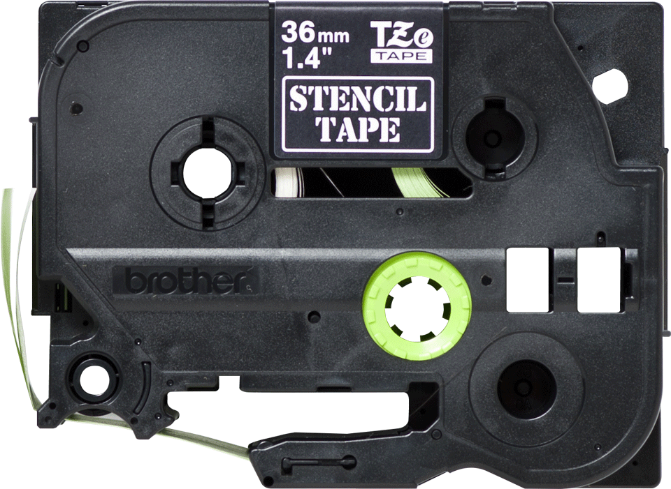 Original Brother STe161 stencil-/elektrolysetape – sort, 36 mm bred