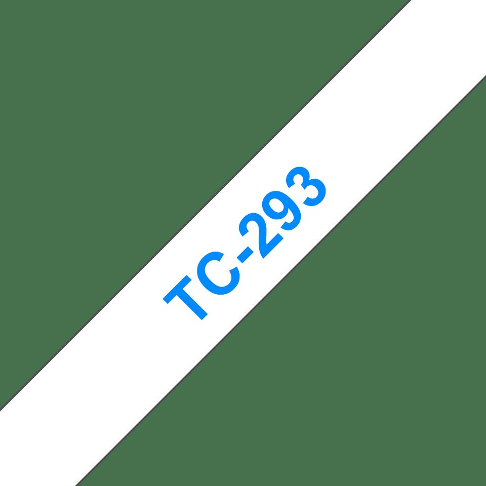 Original Brother TC293 tape - blå på hvid, 9 mm bred