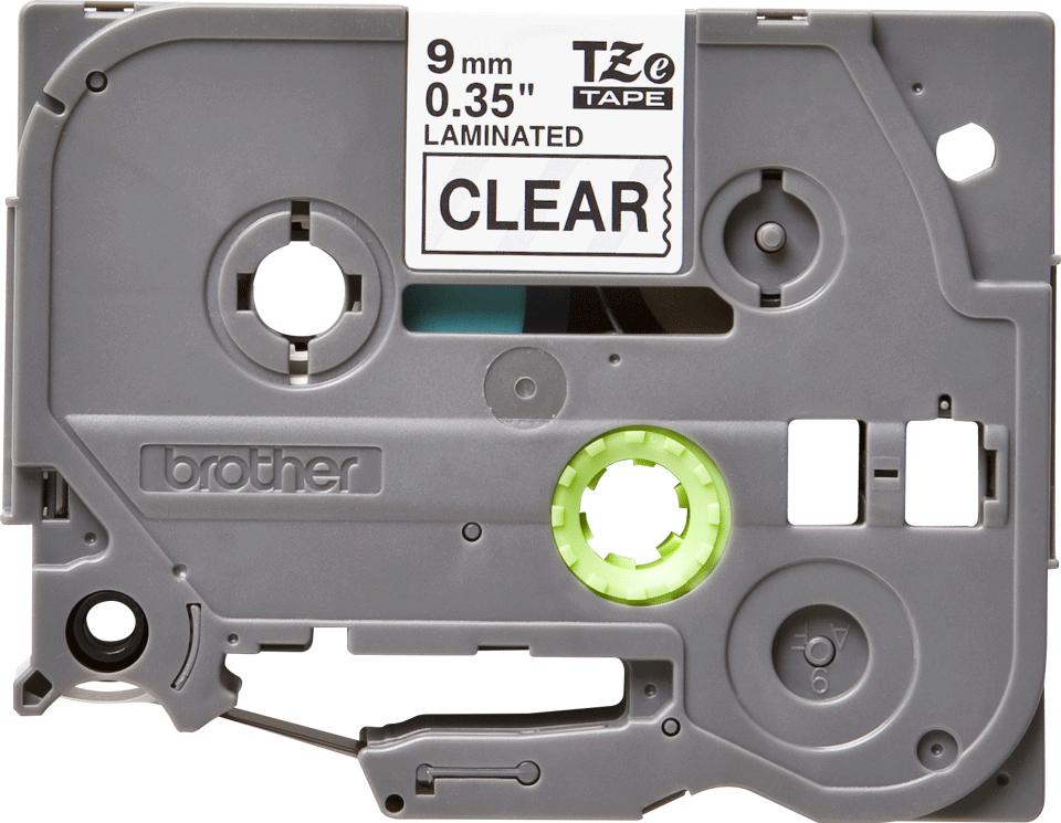 Original Brother TZe121 tape – sort på klar, 9 mm bred 2