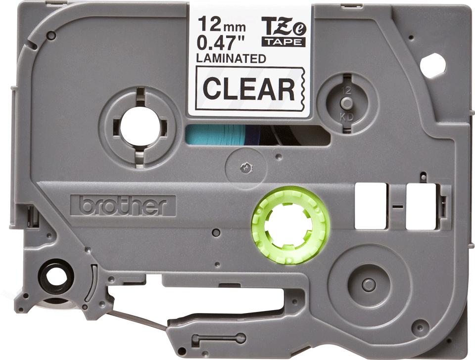 Original Brother TZe-131 tape – sort på klar, 12 mm bred 2