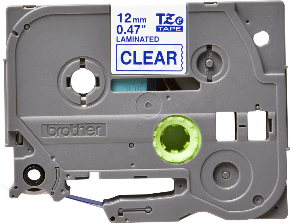 Original Brother TZe133 tape – blå på klar, 12 mm bred 2