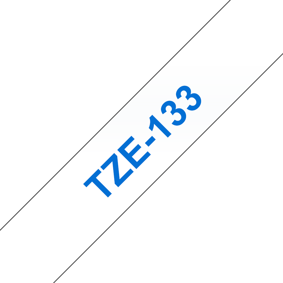 Original Brother TZe133 tape – blå på klar, 12 mm bred 3