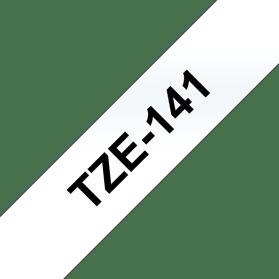 Original Brother TZe141 – sort på klar, 18 mm bred