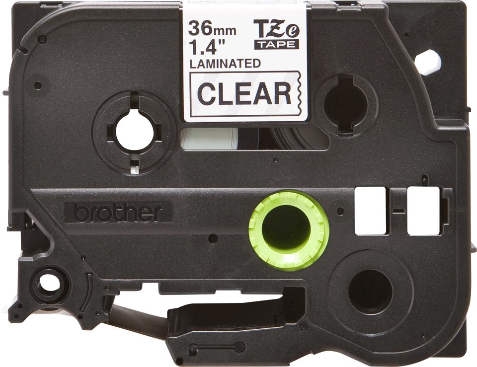 Original Brother TZe161 tape – sort på klar, 36 mm bred 2