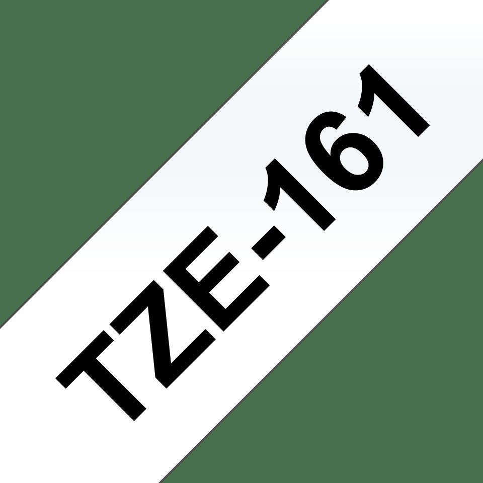 Original Brother TZe161 tape – sort på klar, 36 mm bred