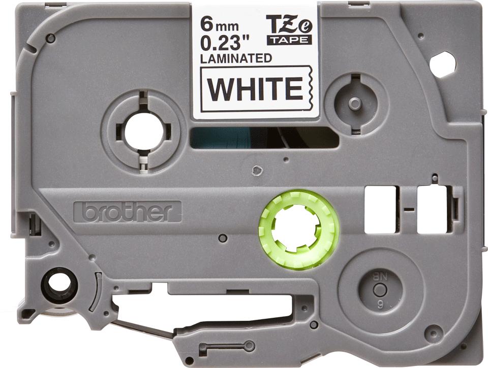 Original Brother TZe211 tape – sort på hvid, 6 mm bred 2