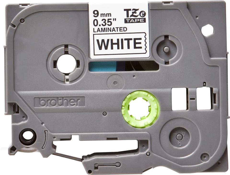 Original Brother TZe-221 tape – sort på hvid, 9 mm bred 2