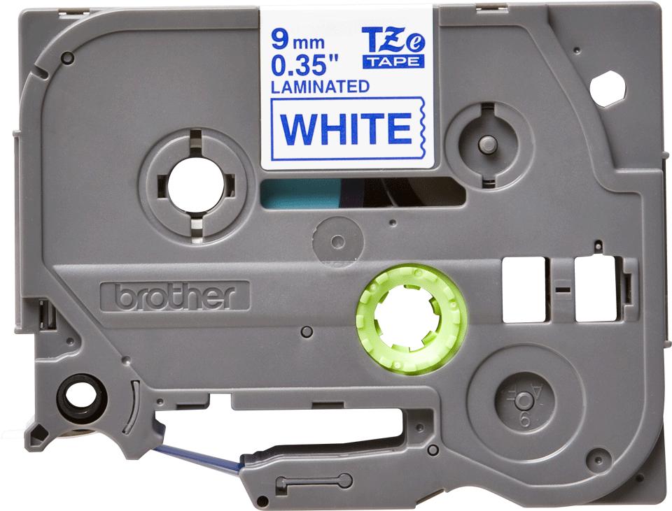 Original Brother TZe223 tape – blå på hvid, 9 mm bred 2