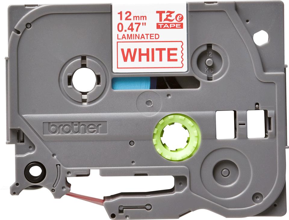 Original Brother TZe232 tape – rød på hvid, 12 mm bred 2