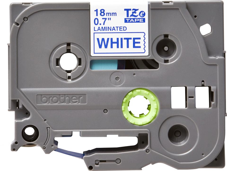 Original Brother TZe243 tape – blå på hvid, 18 mm bred 2