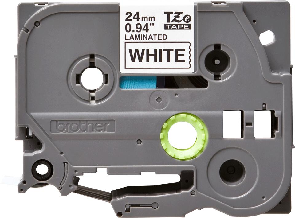 Original Brother TZe-251 tape – sort på hvid, 24 mm bred