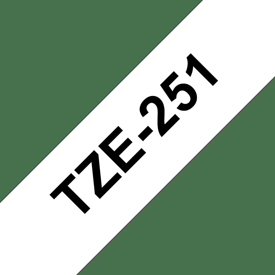 Original Brother TZe-251 tape – sort på hvid, 24 mm bred 3