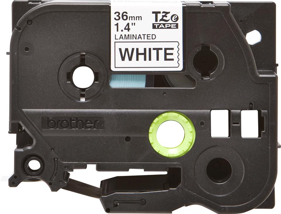 Original Brother TZe261 tape – sort på hvid, 36 mm bred