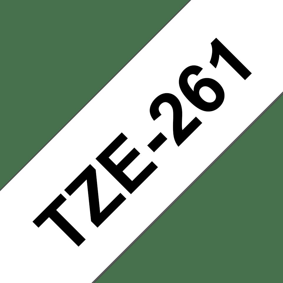 Original Brother TZe261 tape – sort på hvid, 36 mm bred 3