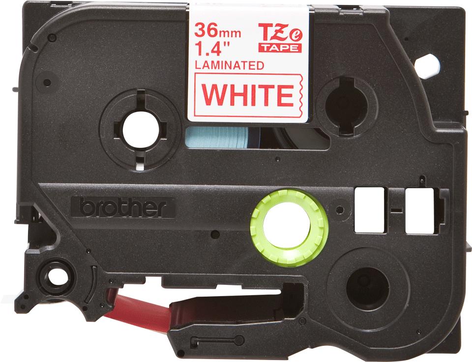 Original Brother TZe262 tape – rød på hvid, 36 mm bred