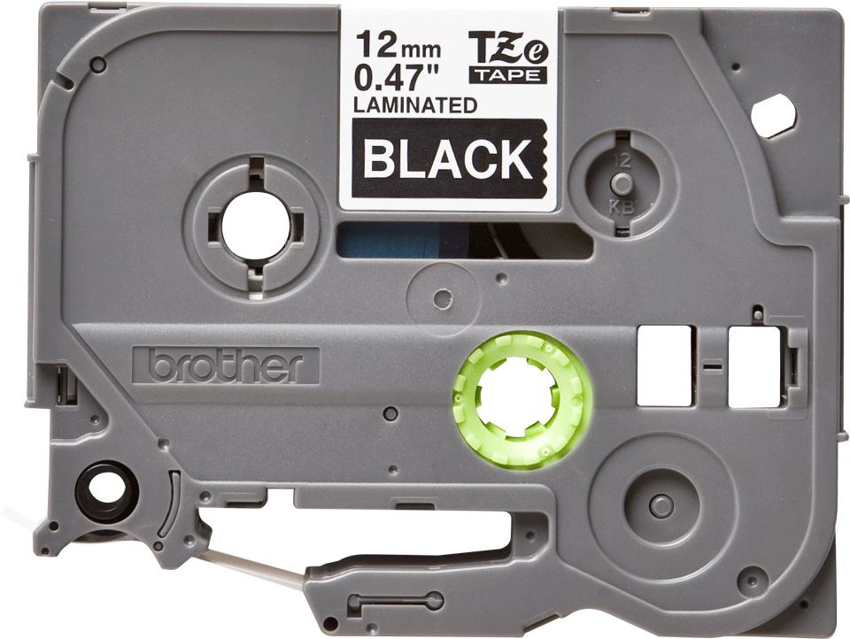 Original Brother TZe-335 tape – hvid på sort, 12 mm bred