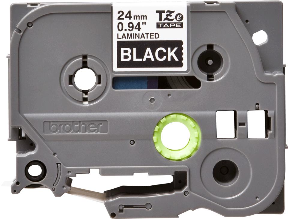 Original Brother TZe355 tape – hvid på sort, 24 mm bred 2