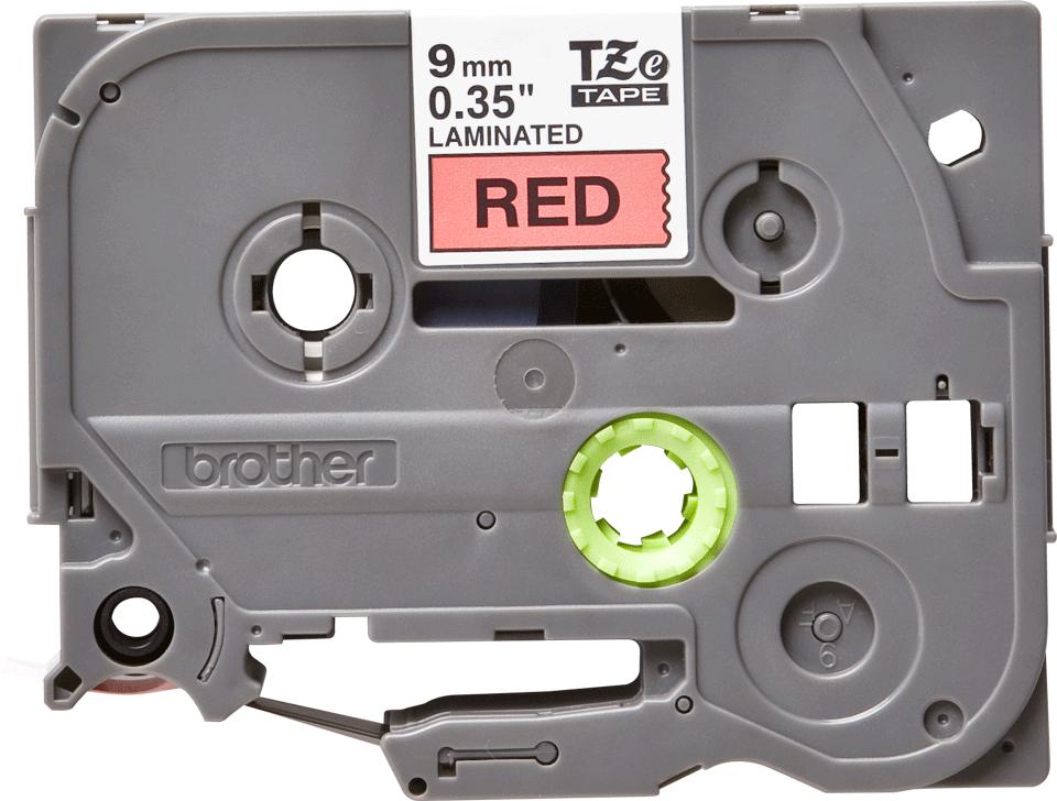 Original Brother TZe421 tape – sort på rød, 9 mm bred