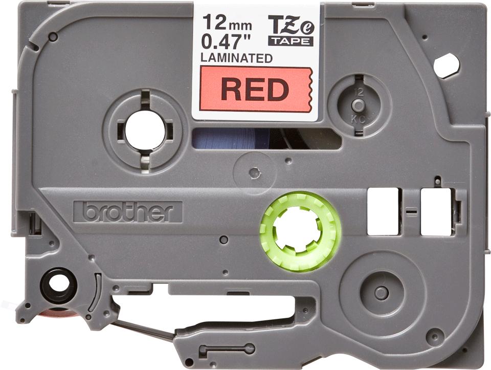 Original Brother TZe431 tape – sort på rød, 12 mm bred 2