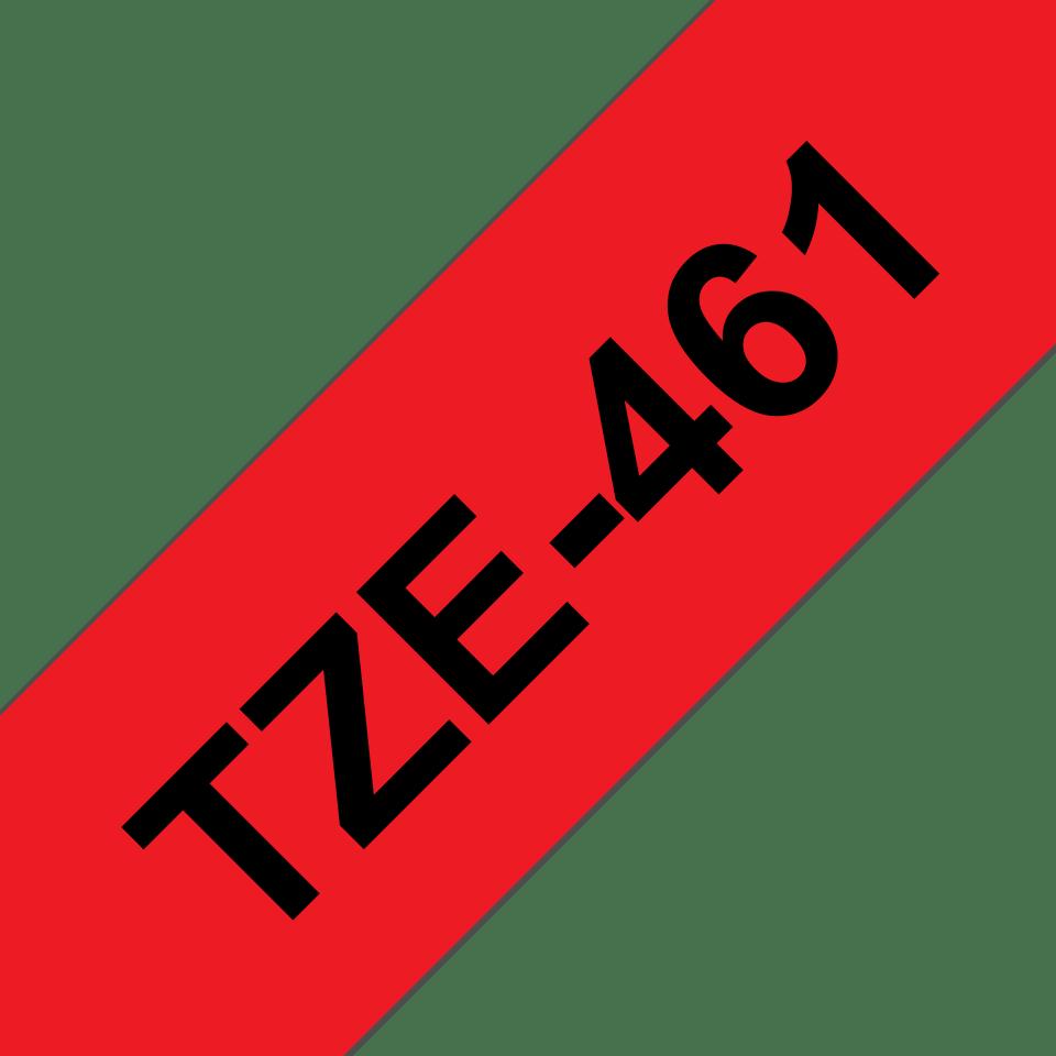 Original Brother TZe461 tape – sort på rød, 36 mm bred