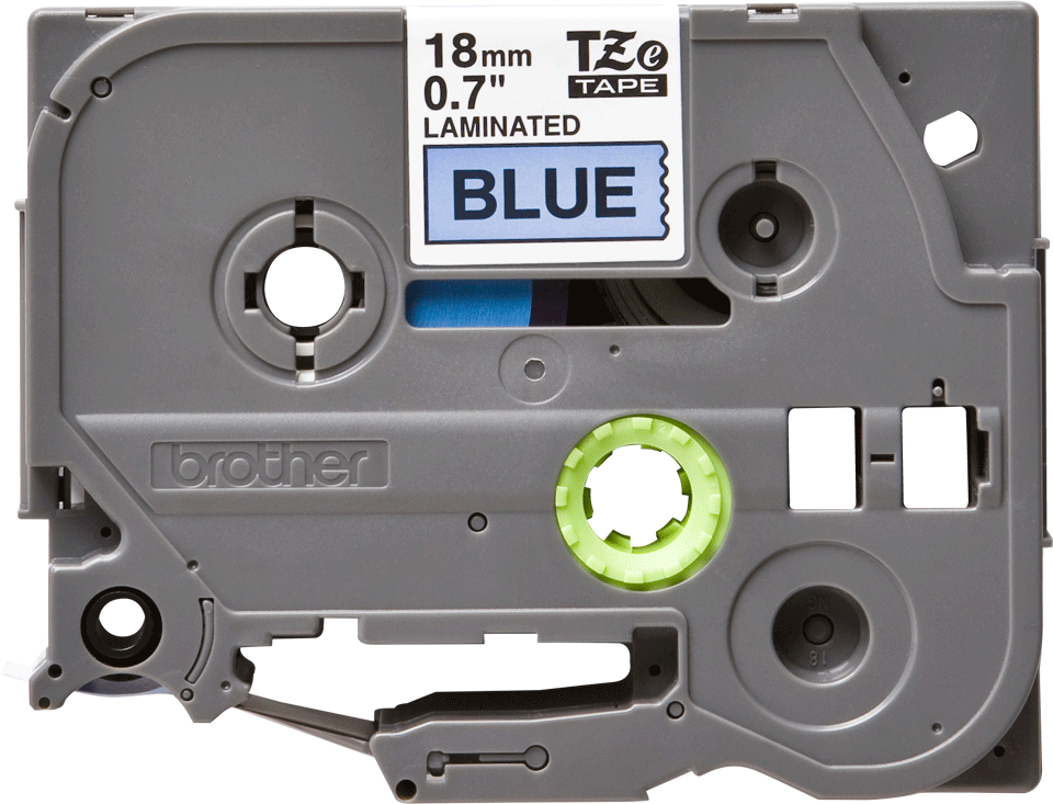Original Brother TZe541 tape – sort på blå, 18 mm bred 2