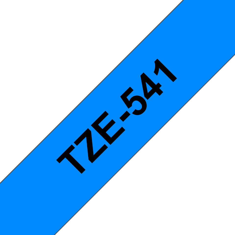 Original Brother TZe541 tape – sort på blå, 18 mm bred 3