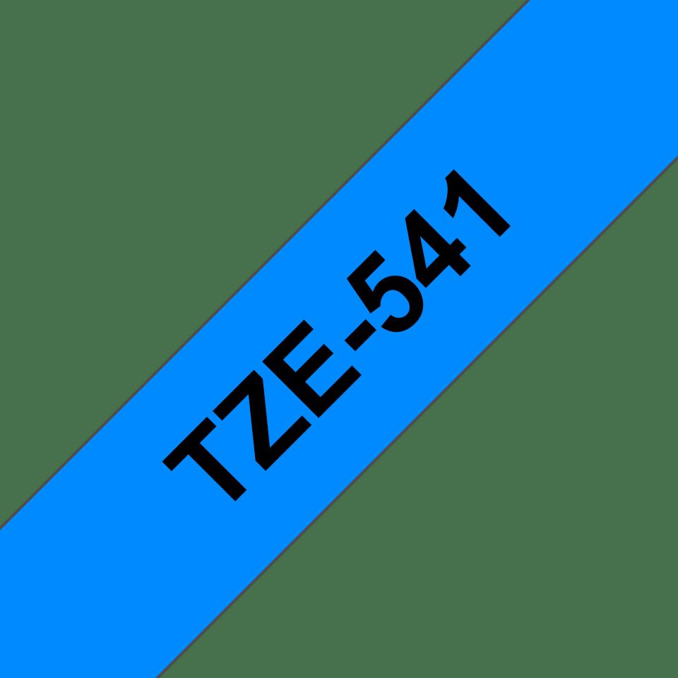 Original Brother TZe541 tape – sort på blå, 18 mm bred