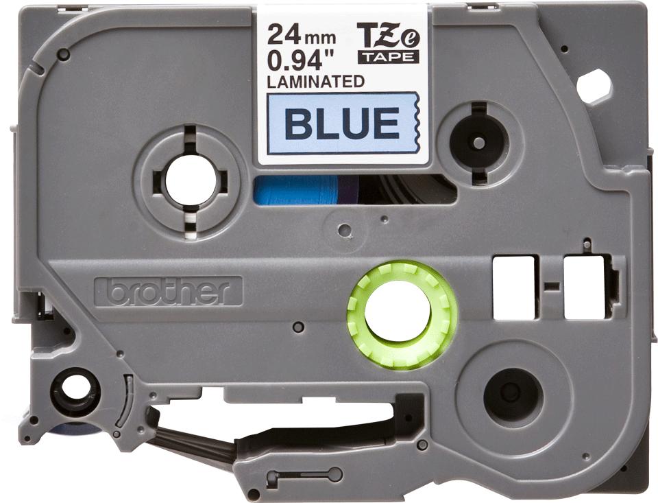Original Brother TZe551 tape – sort på blå, 24 mm bred