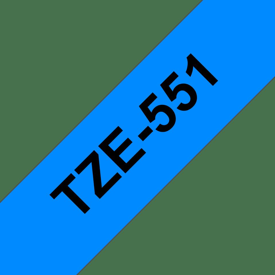 Original Brother TZe551 tape – sort på blå, 24 mm bred 3
