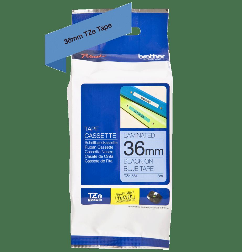 Original Brother TZe561 tape – sort på blå, 36 mm bred 3