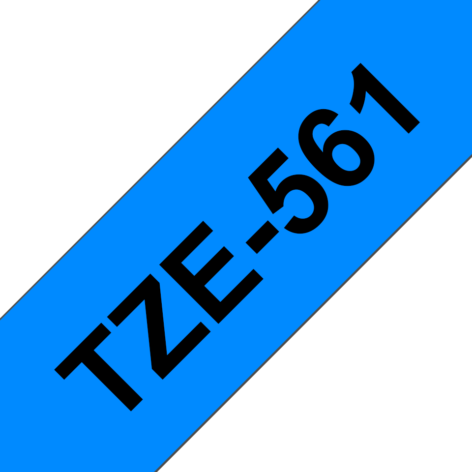 Original Brother TZe561 tape – sort på blå, 36 mm bred
