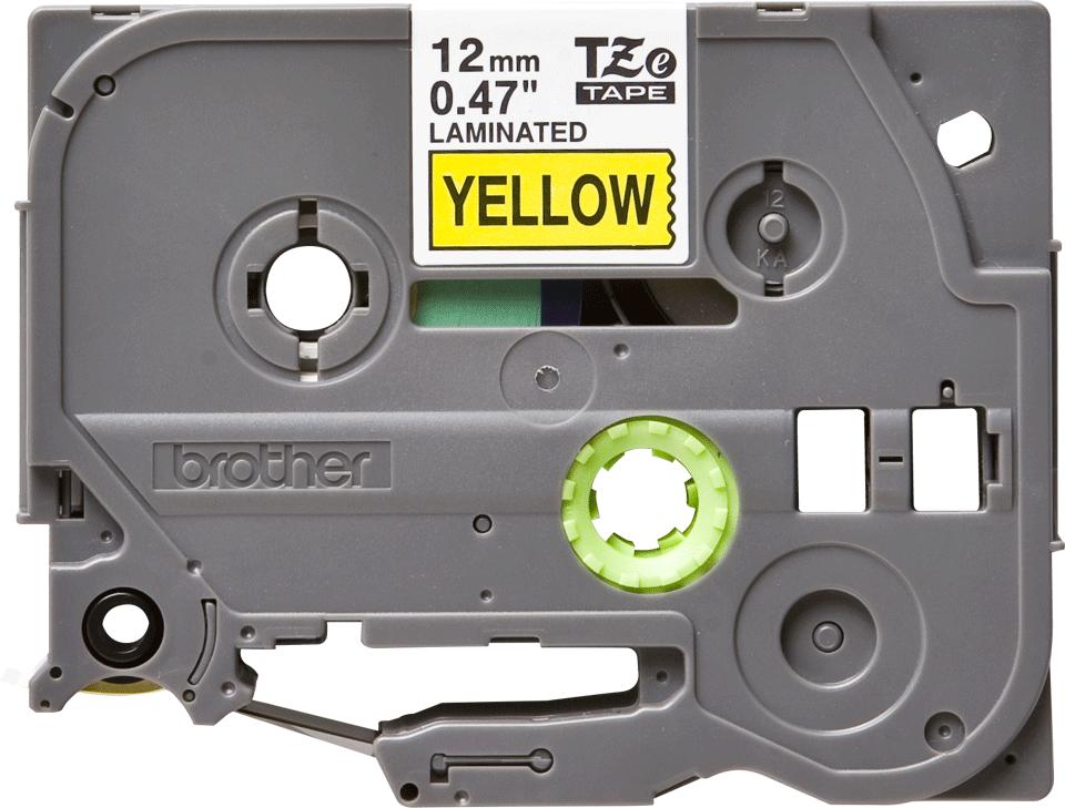 Original Brother TZe-631 tape – sort på gul, 12 mm bred 2