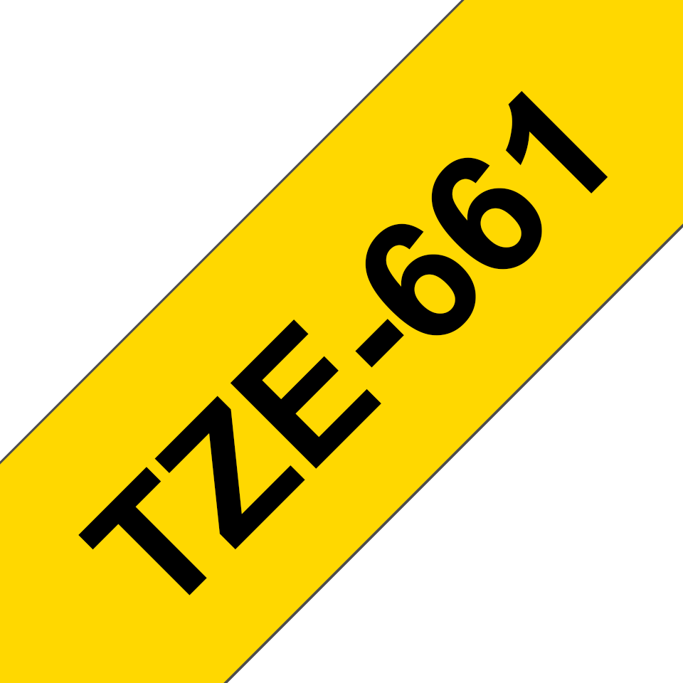 Original Brother TZe661 tape – sort på gul, 36 mm bred 3