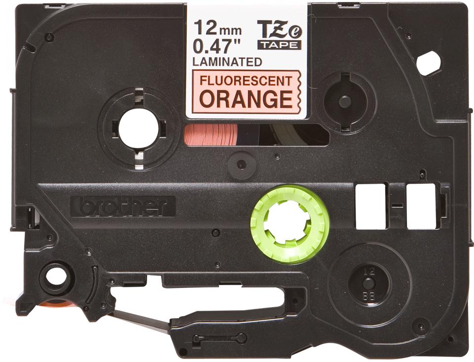 Original Brother TZe-B31 tape – fluorescerende orange, 12 mm bred