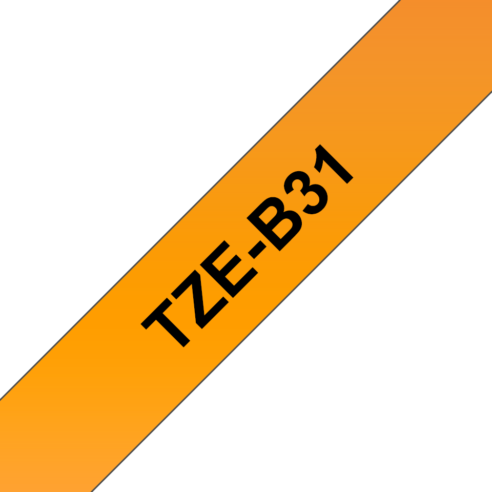 Original Brother TZe-B31 tape – neonorange, 12 mm bred 3
