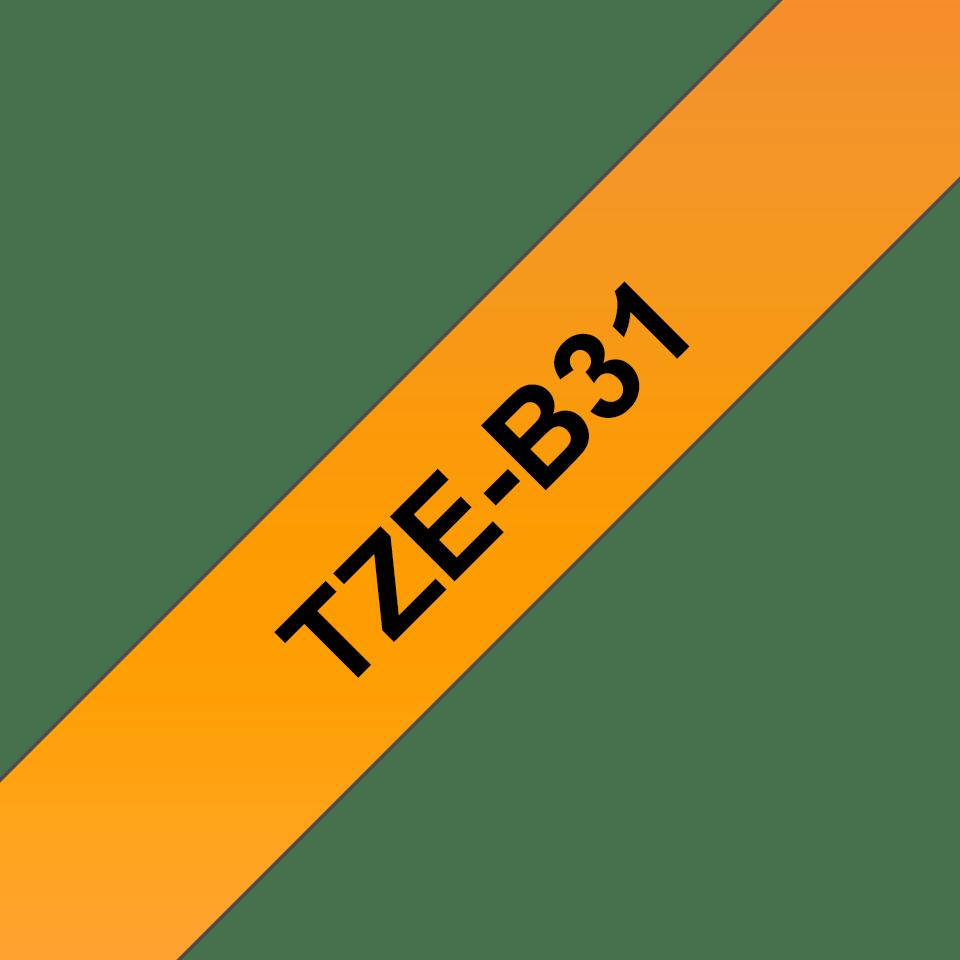 Original Brother TZe-B31 tape – neonorange, 12 mm bred