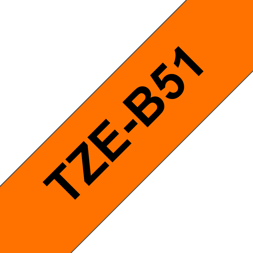 Original Brother TZeB51 tape – neonorange, 24 mm bred