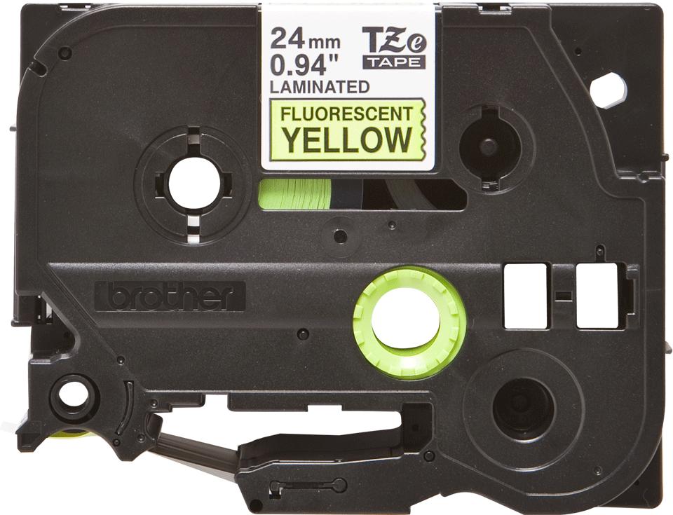 Original Brother TZeC51 tape – neongul, 24 mm bred