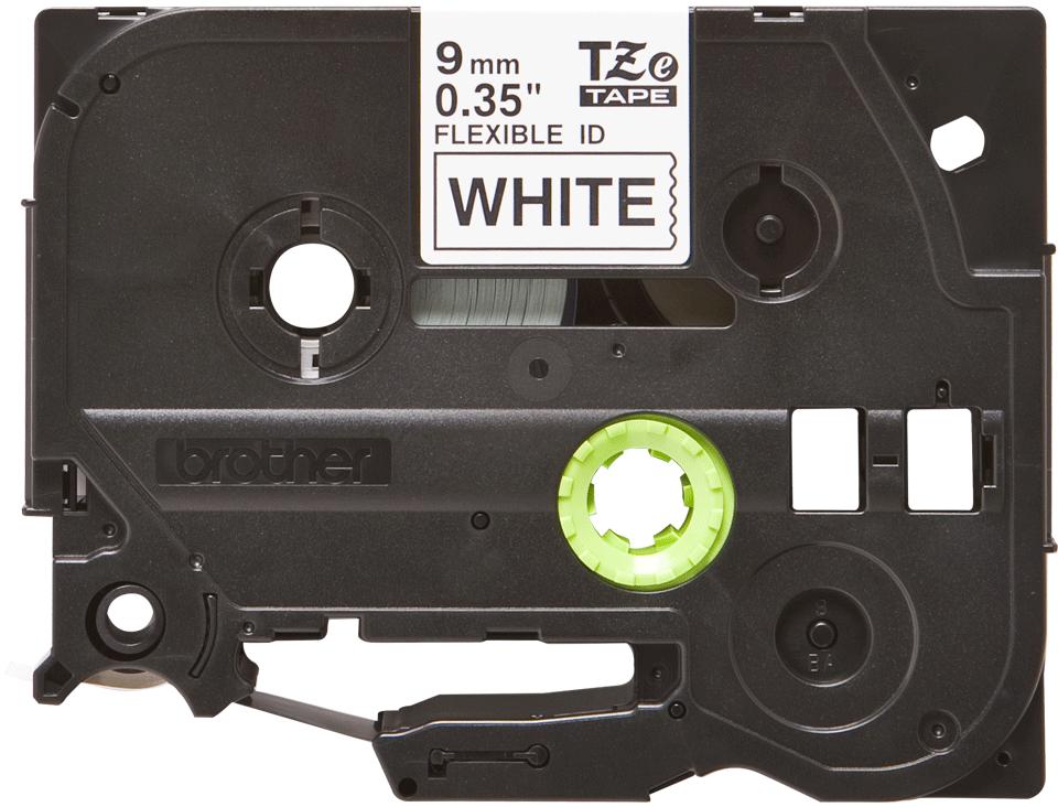 Original Brother TZeFX221 tape – sort på hvid, 9 mm bred 2