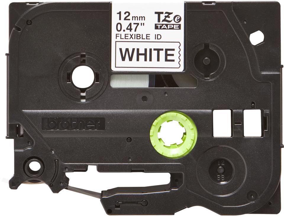 Original Brother TZe-FX231 tape – sort på hvid, 12 mm bred