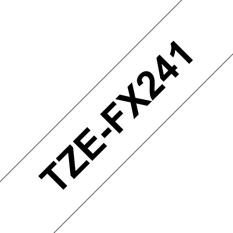 Original Brother TZeFX241 tape – sort på hvid, 18 mm bred 3