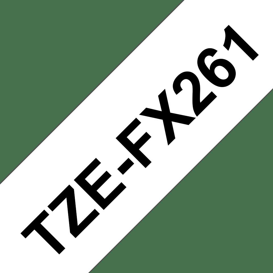 Original Brother TZeFX261 tape – sort på hvid, 36 mm bred 3
