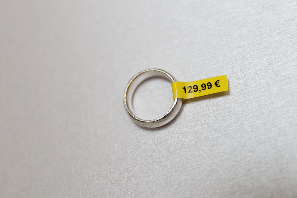 Original Brother TZeFX611 tape – sort på gul, 6 mm bred 4