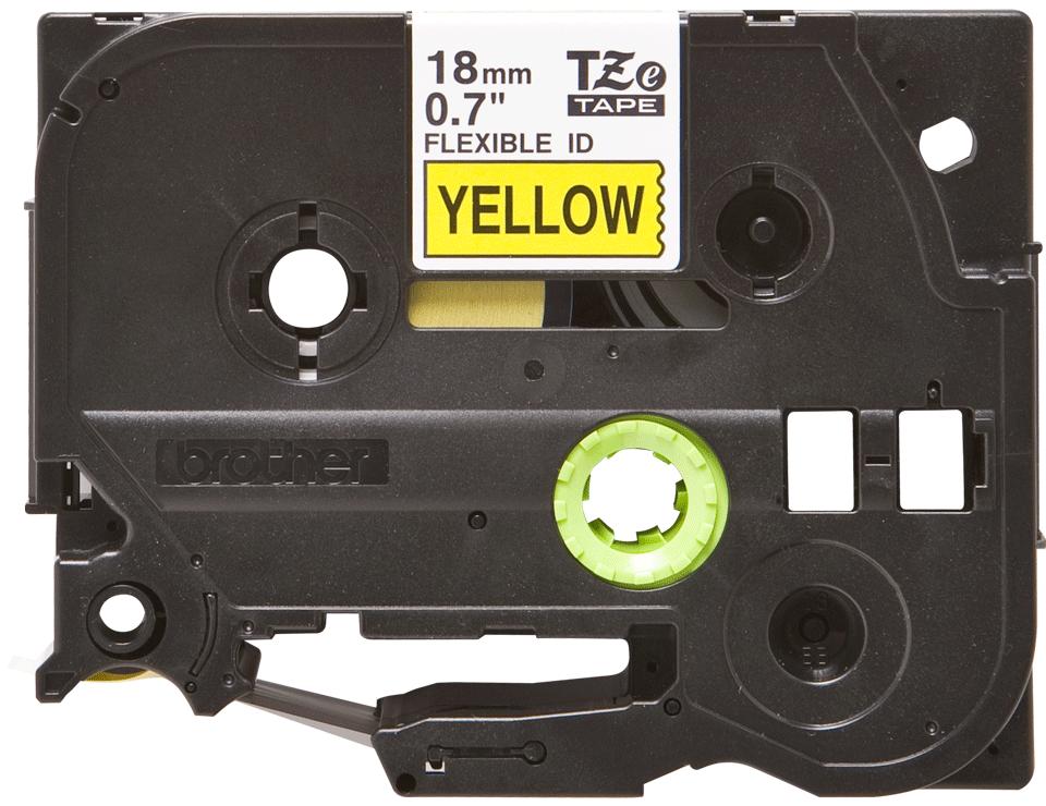 Original Brother TZeFX641 tape – sort på gul, 18 mm bred 2